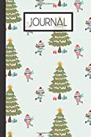"""Journal: Winter Raccoon Lined 120 Page Journal (6""""x 9"""")"""