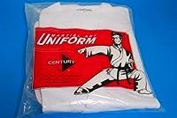 ホワイト世紀Martial Arts Karate Uniform withベルトMedium重量引き紐付きの伸縮性ウエストバンド&大人&子供サイズ000–7 Size 5 170-200lb 5ft 11in - 6ft 2in
