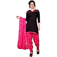 CRAFTSTRIBE Printed Women Bollywood Unstitched Polyester Salwar Kameez Suit Dress Un-Stitched Material