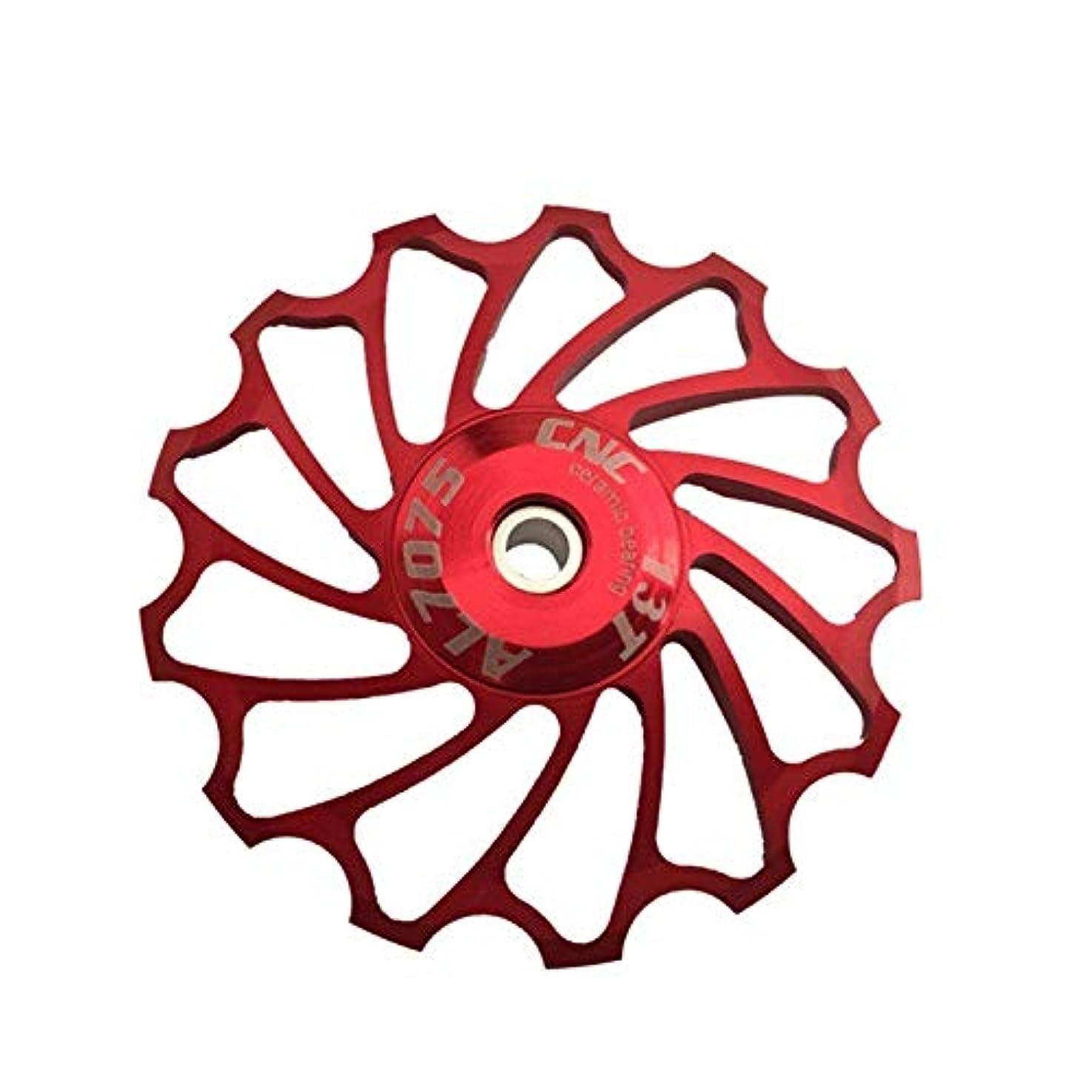 高揚した契約したギャロップPropenary - Cycling bike ceramics Jockey Wheel Rear Derailleur Pulley 13T 7075 Aluminum alloy bicycle guide pulley...