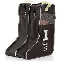ブーツ 収納カバー 収納袋 収納ケース靴 シューズカバー シューズ ロングブーツ ショートブーツ 長靴 防水 (ブラック L)