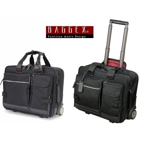 バジェックス BAGGEX ビジネスキャリーバッグ メンズ 23-5531-10 ブラック [並行輸入品]