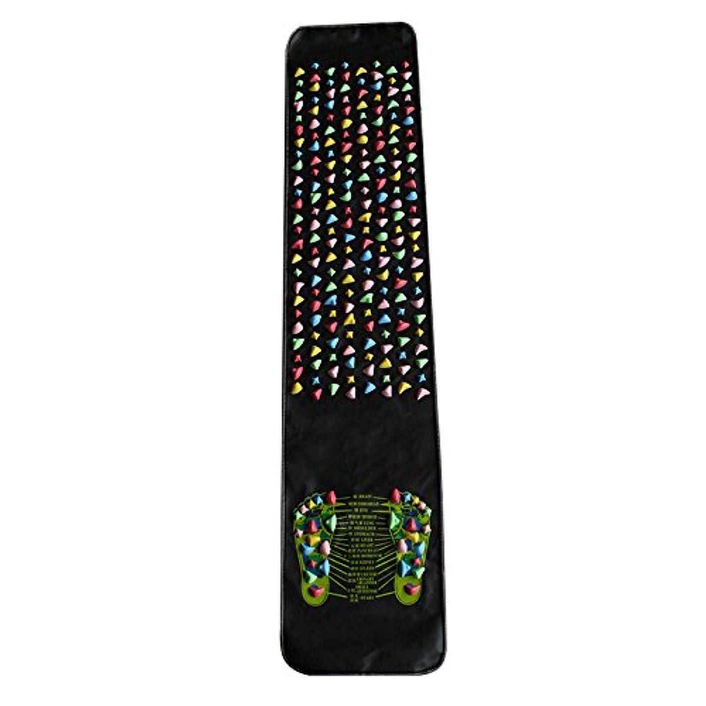 スリンクスリップシューズ大胆な健康足つマット, 足ツボ 刺激, 模造石畳の歩道室内運動, マッサージ 足裏 健康 ツボ刺激, 足のマッサージブランケット, 模造ペブルのマッサージパッド指圧板 (180CM*35CM)