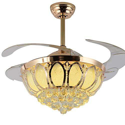 HN Lighting ランプ付き42インチ天井ファン、ヨー...