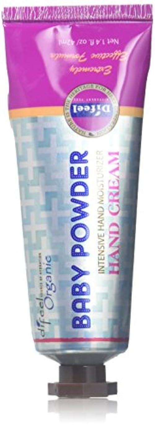 伝記明るいずんぐりしたDifeel(ディフィール) ベビーパウダー ナチュラル ハンドクリーム 40g BABY POWDER 14BBP New York 【正規輸入品】