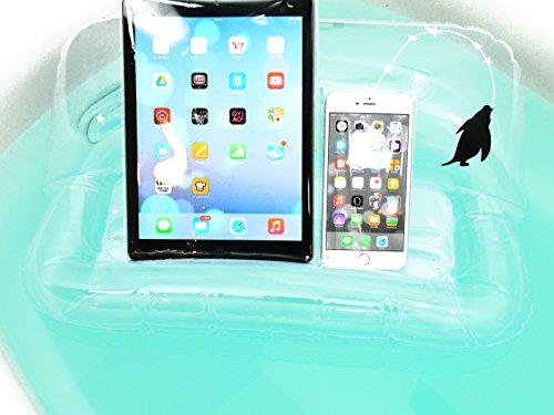 お風呂に浮くブックスタンドぷっかぁー:ペンギン (クリア)