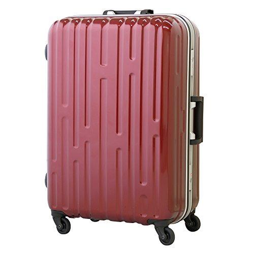 (グラディス・トラベル)GladysTravel スーツケース 超軽量 ABS+ポリカーボネート Lサイズ 8460-18 ワインレッド