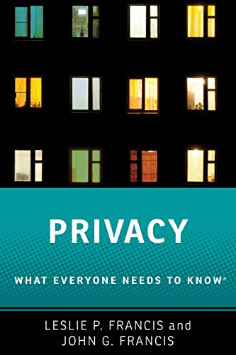 Download Privacy: What Everyone Needs to Know 0190612258