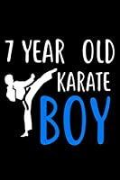 7 Year Old Karate Boy: Martial Arts Seventh Birthday Gift Sketchbook for Boys