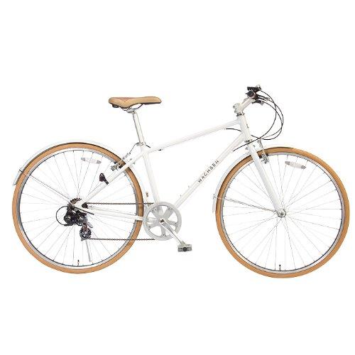 WACHSEN(ヴァクセン) 700C クロスバイク【軽量アルミフレーム】 シマノ6段変速 48Tチェーンホイール 13.5kg 泥除け/スタンド付 reise BR-700