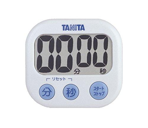 タニタ(TANITA) でか見えタイマー タイマー 大画面 100分 ホワイト 約76×82×23.2 立て掛け用スタンド付 TD-...