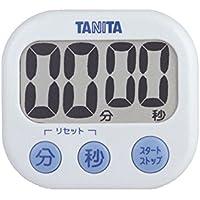 タニタ(TANITA) でか見えタイマー タイマー 大画面 100分 ホワイト 約76×82×23.2 立て掛け用スタンド付 TD-384-WH