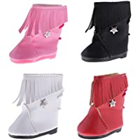 Dovewill 18インチドール 人形アクセサリー ブーツ シューズ 靴 4ペアセット