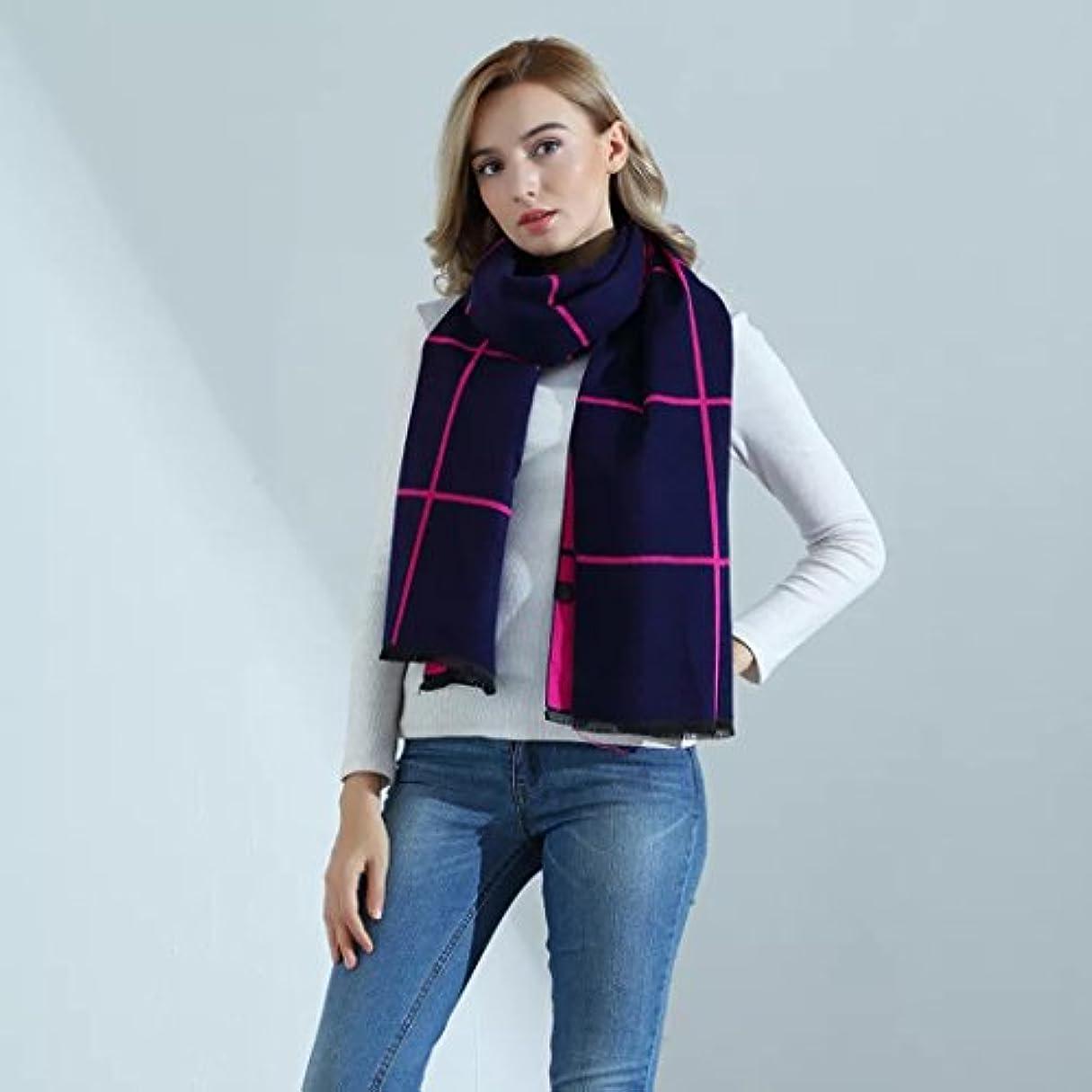 ブリーフケース三お手入れSunshine Everydayファッションシンプルロング冬ストライプ格子柄ショールスカーフ厚み付け暖かいスカーフ 74.8