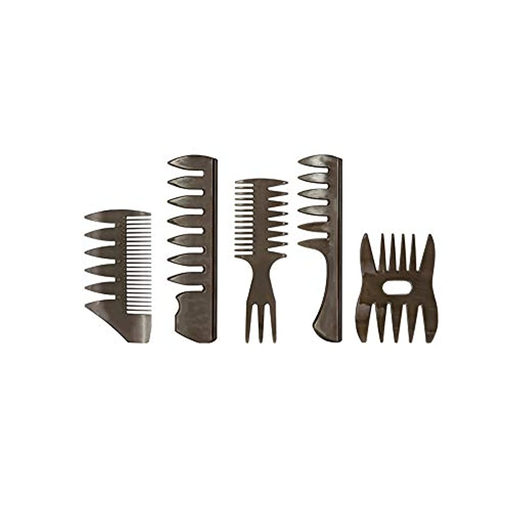 参照する歯痛アデレードプロのスタイリストの美容師の櫛濡れたヘアアクセサリーの5組はからかいの櫛帯電防止ブラシツール、男の子を形成し、