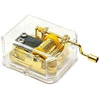 Lefoプラスチックハンドクランク音楽ボックス Tune:Edelweiss ゴールド