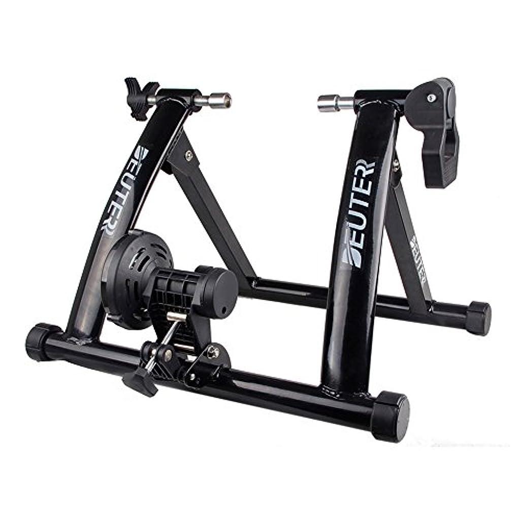透明にラウズ硬さDEUTER (ドイター) 室内用 バイクトレーナー ポータブル エクササイズ 自転車用 磁気スタンド (black)