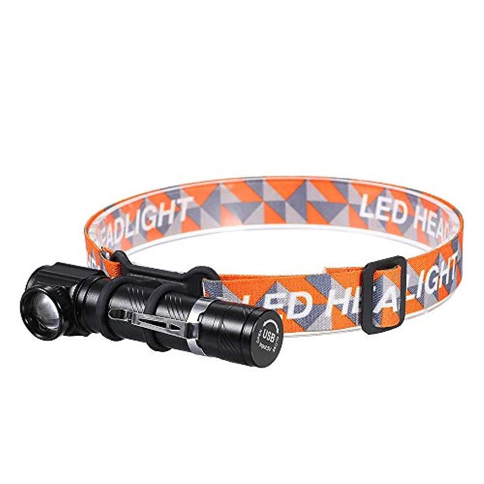 急襲れる助けてGalapara LED ヘッドライト, USB充電式ミニLED ヘッドライト付きマグネットベース3照明モードIPX6防水テレスコピックヘッドライト用屋外釣りクライミングキャンプ