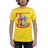 Jimi Hendrix - - メンズ経験豊富なTシャツが黄色で, X-Large, Yellow