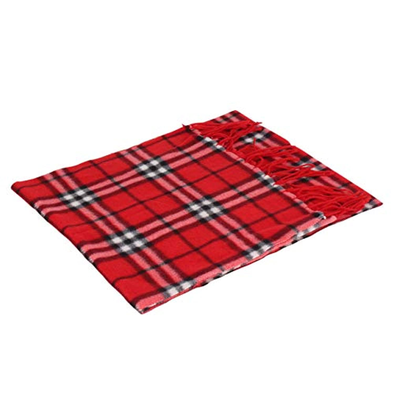 DeeploveUU 150×30センチファッション冬秋格子縞のスカーフ両側ベルベット暖かいスカーフユニバーサル子供マフラーオールマッチネッカーチーフ