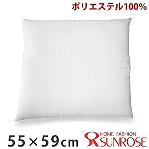 【日本製】ヌード座布団・ポリエステル(パンヤ風)・クッション中材(55cm×59cm用) 1個