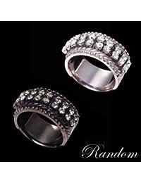 (ランダム) RANDOM スワロフスキーダイヤレーンリング SILVER 13