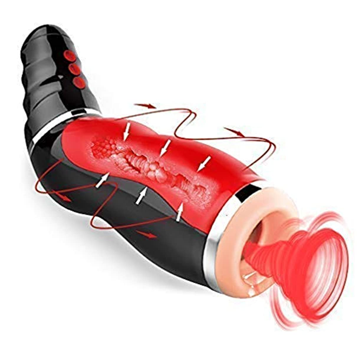 参照するアーティキュレーションフルーツ野菜Woouu 男性リラックス180度回転ハンズフリーカップ10回転10伸縮式マスターバスカップ全自動吸盤