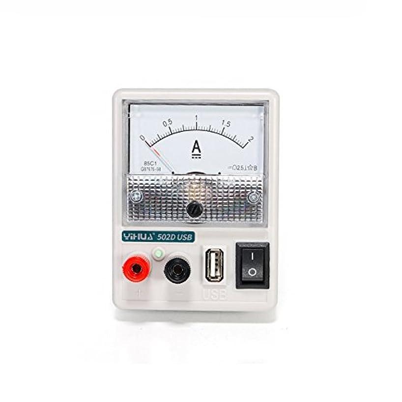 鎮静剤ビリー事Beho イフア 502D 110v-220v 5v 2a USB ミニ DC 電源電流計 (電話修理電流検出用)
