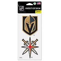 Vegas Golden Knights NHL Perfect Cut Decal–2パックからフラグ無制限