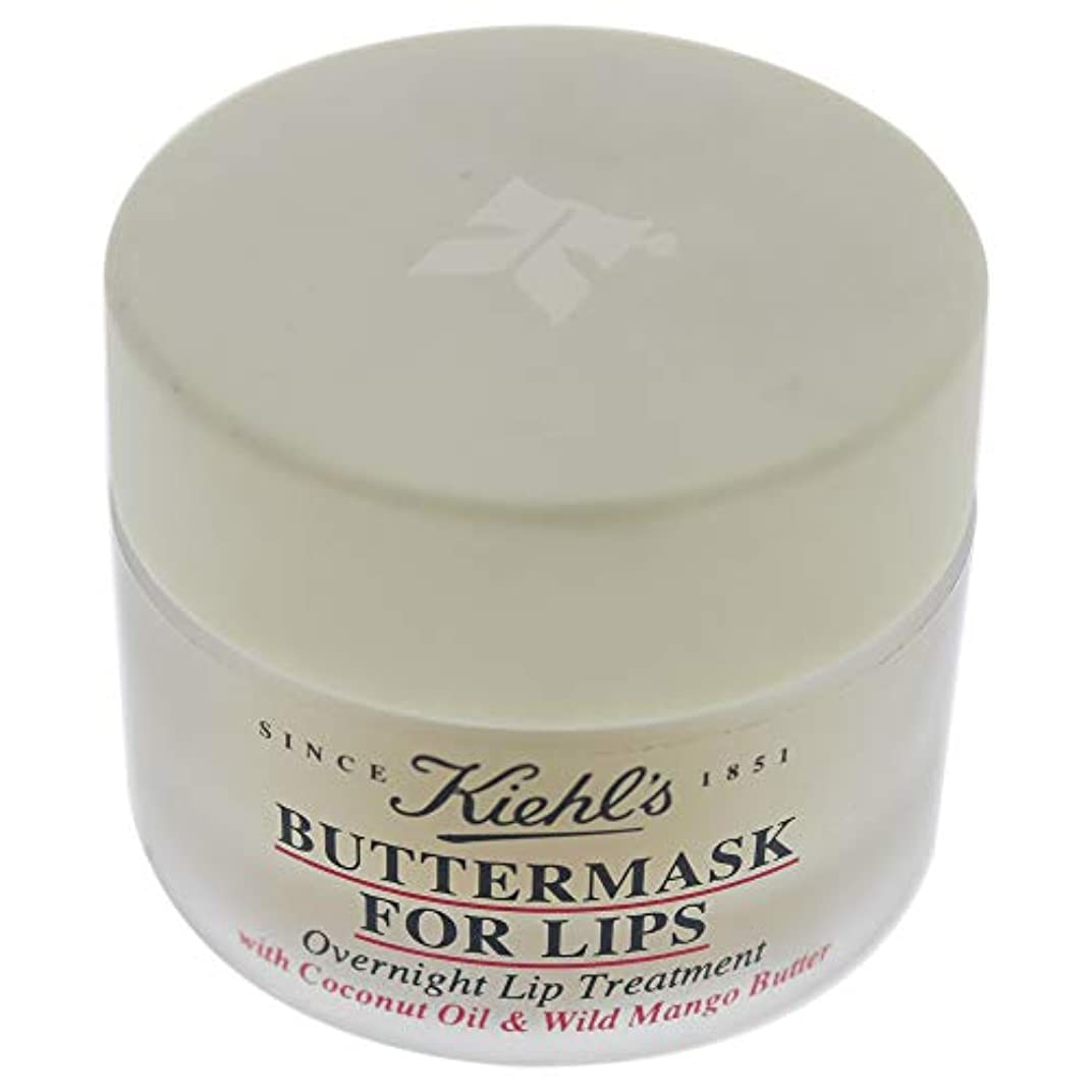 コットンスロット従来のKiehl's Buttermask For Lips With Coconut Oil and Wild Mango Butter 15ml