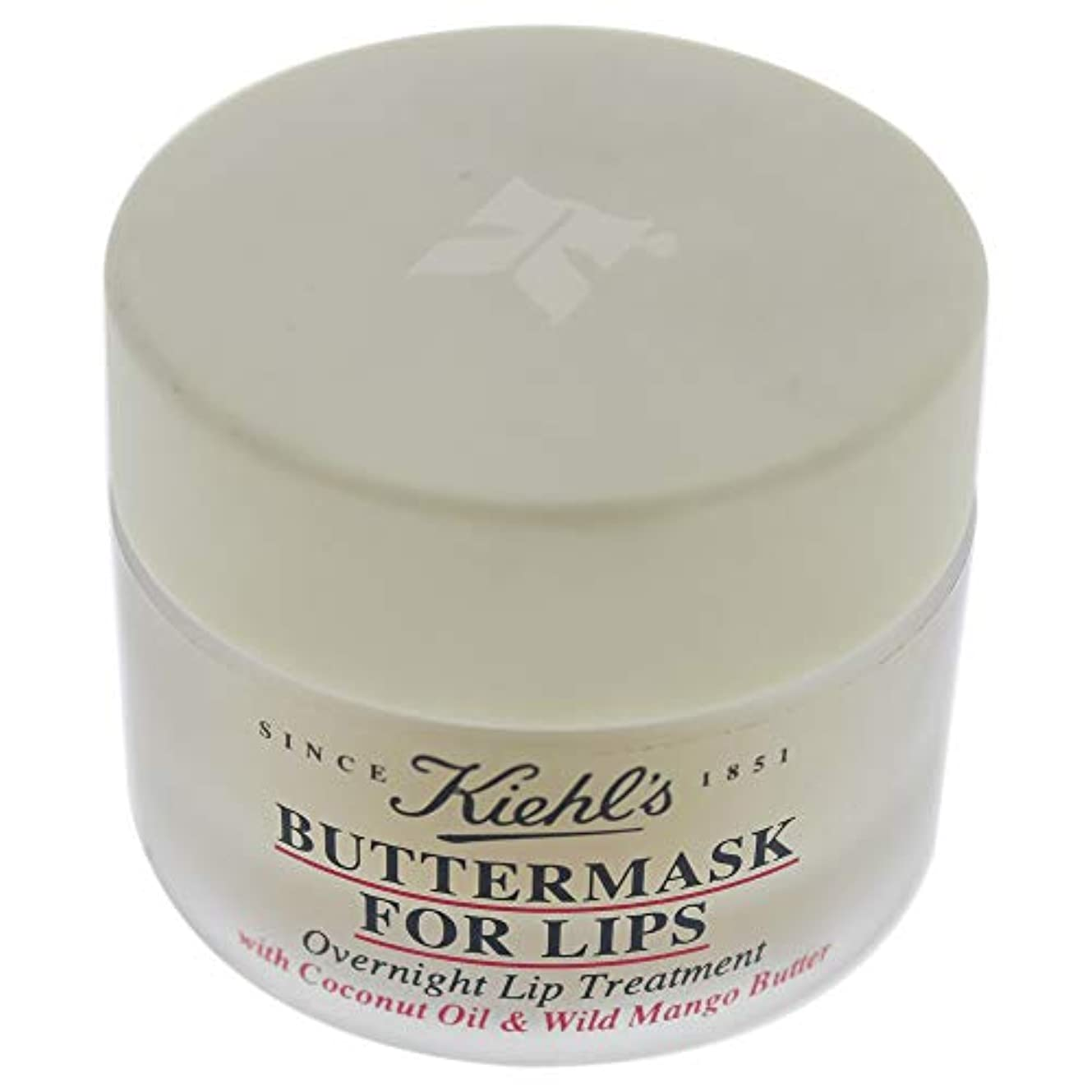 誘惑かすれた止まるKiehl's Buttermask For Lips With Coconut Oil and Wild Mango Butter 15ml