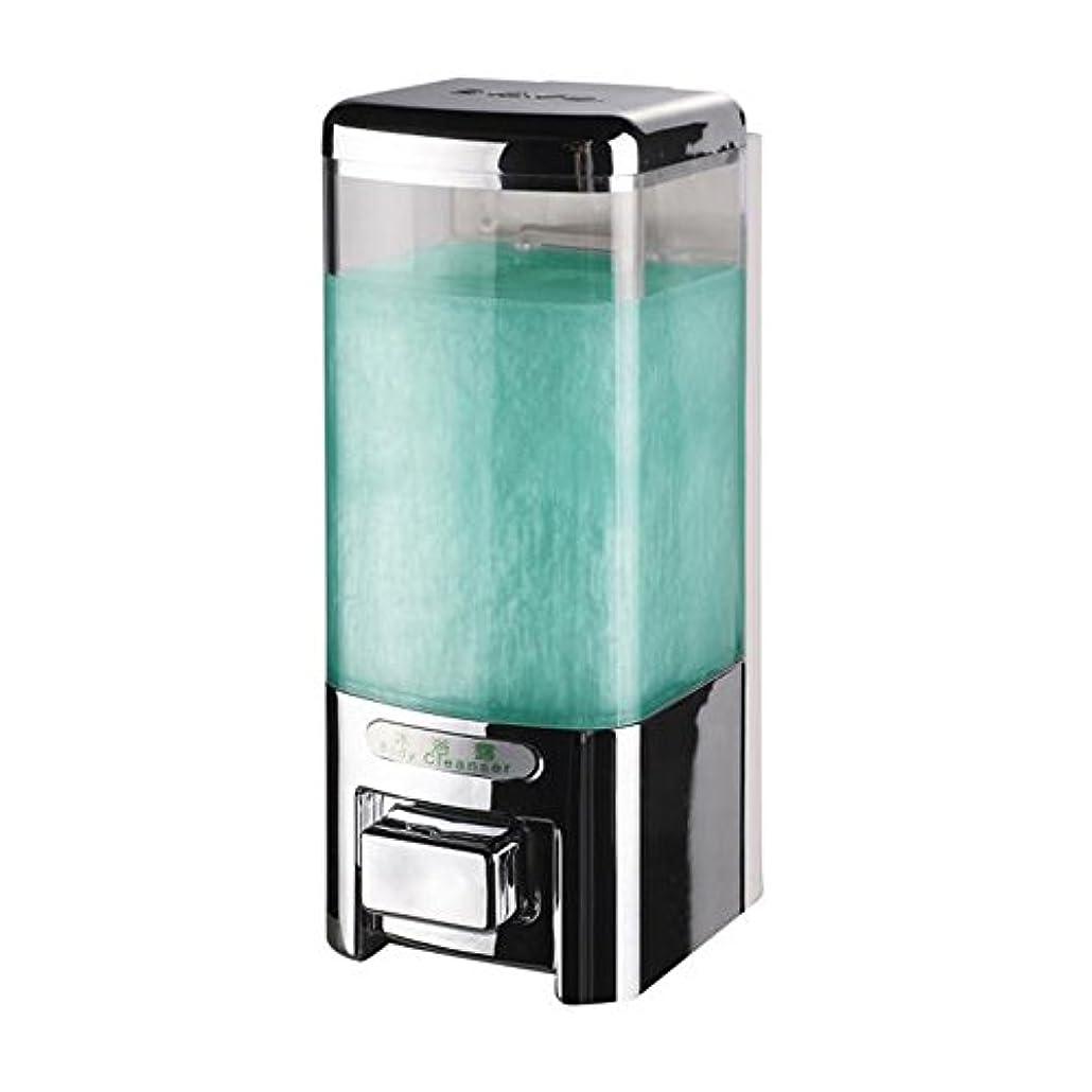 同等の住む受け皿Svavo v-8101プラスチック壁マウントHand Soap Dispenser forホテルキッチンバスルームホワイト、クロム500 ml 1のパック V-8101-Chrome