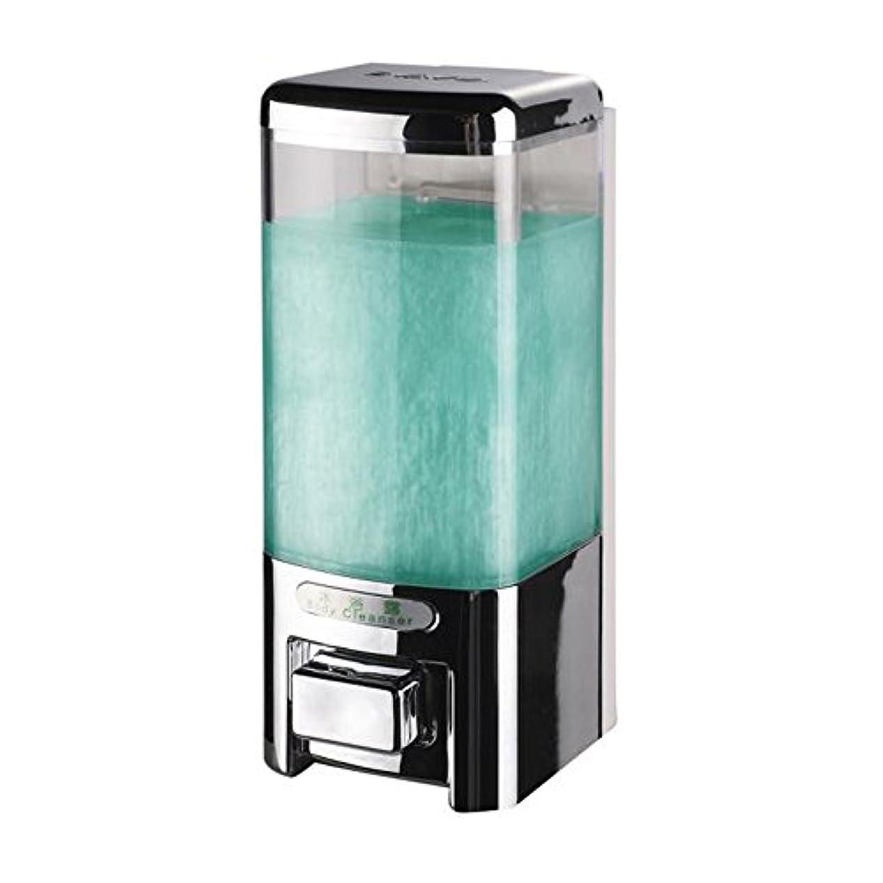 スーパーマーケット誠実さ乳剤Svavo v-8101プラスチック壁マウントHand Soap Dispenser forホテルキッチンバスルームホワイト、クロム500 ml 1のパック V-8101-Chrome