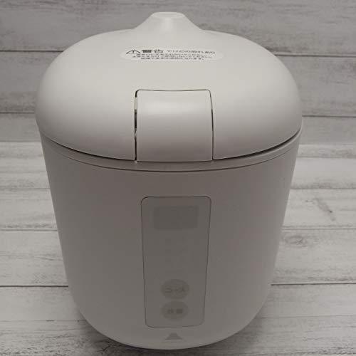 ソフトスチーム米専用小型炊飯器 poddi (ポッディー) ホワイト 最短10分で炊飯可能