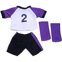Lovoski 人形用 スポーツ 服 サッカー 制服 セット 18インチ アメリカンガールドール適用 装飾 全3種類 - 02