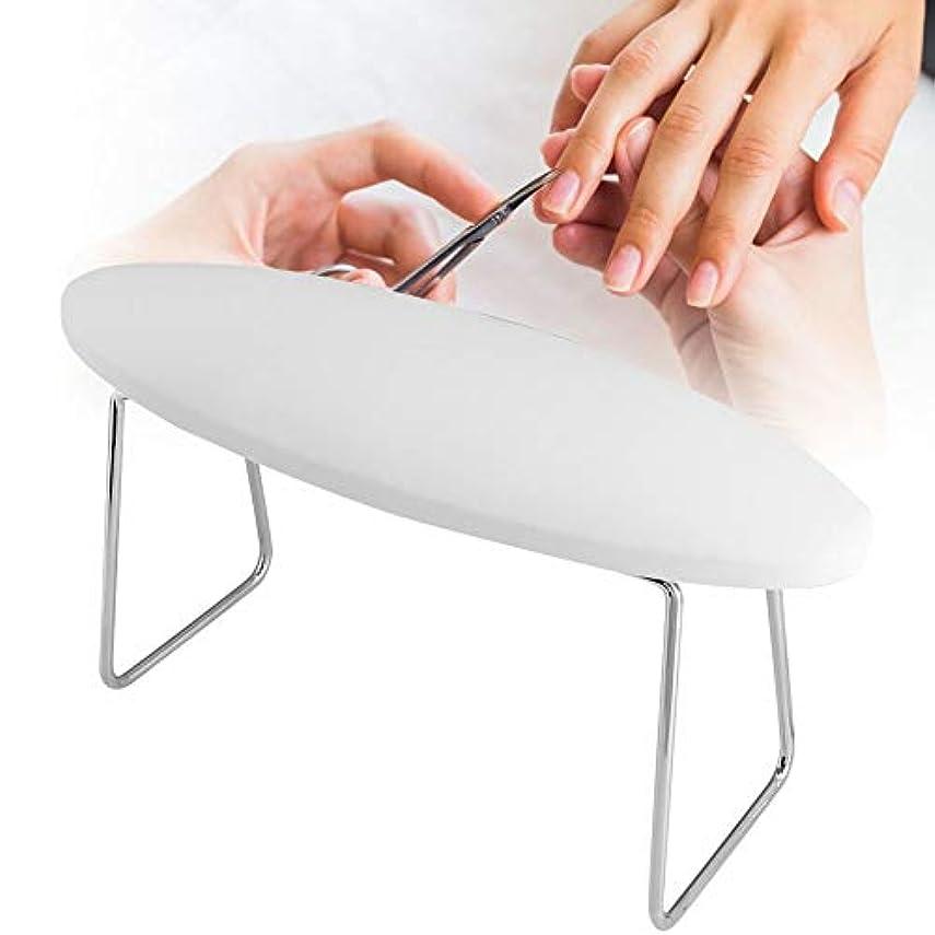 ナイトスポット認可気をつけてソフトレザーネイルアートハンドレストクッション、取り外し可能なマニキュアアームリストサポートハンドピロー用サロンテーブルデスクステーション