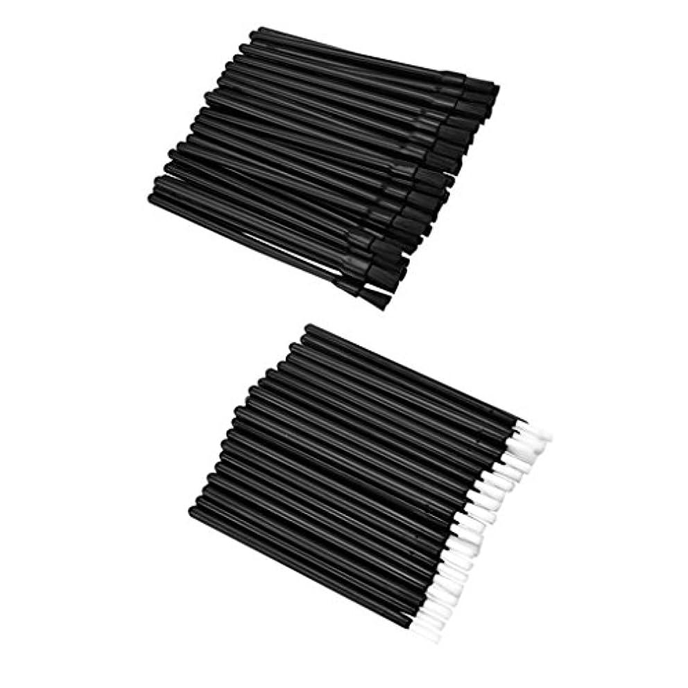 笑撤回する代替案Fenteer 約100個 リップブラシ ロット 使い捨て 繊維 リップ メイクブラシ リップ ブラシ