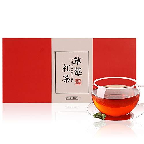 いちご紅茶 ティーバッグ 草莓紅茶包90g(3g*30包) 花茶 中国茶 紅茶 茶葉 無添加100%