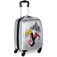 Marvel Spider-Man Rolling Luggage for Kids Gray