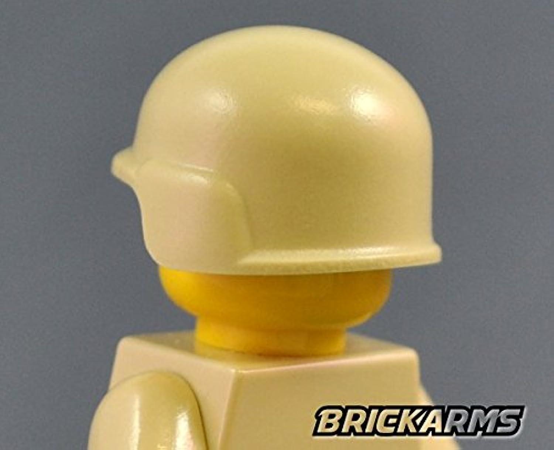 MCHヘルメット LEGOカスタムパーツ アーミー 装備品 武器 (タン)