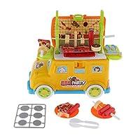 SM SunniMix 7色選択 ごっこ遊び 料理 食品 ドクターバス おままごと おもちゃ 子ども ふり遊び おもちゃ - バーベキューバス