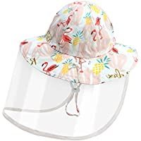 Dream Bridge Kids Sun Visor Hat with Detachable Transparent Cover Protective Fishing Hat Boys Girls Wide Brim Bucket Hat