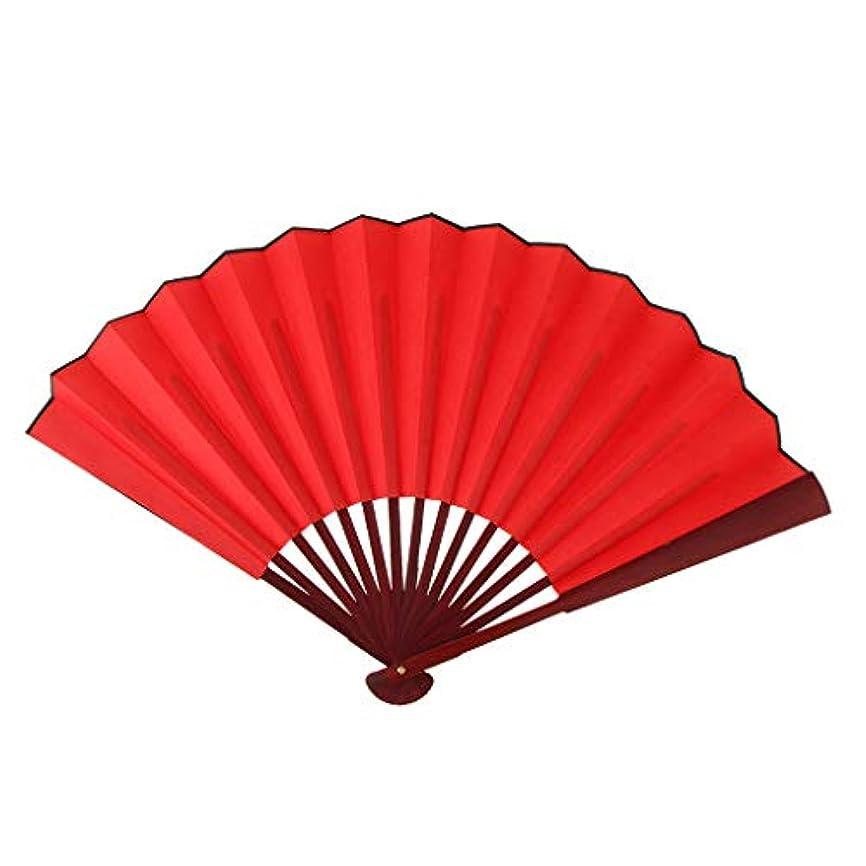 腐食するスクラブ操るハンドファン 空の扇子 折りたたみファン 書道 絵画 浴衣 装飾 小道具 赤