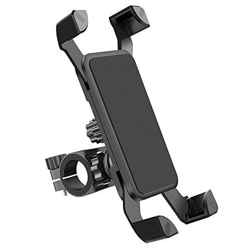 【最新の 自転車 スマホ ホルダー オートバイ バイク スマートフォン振れ止め 脱落防止 GPSナビ 携帯 固定用 防水 (オートバイと自転車兼用) に適用iphone7 8 X xperia HUAWEI android 多機種対応 角度調整 スマホ 自転車 360度回転 携帯ほるだー バイク 脱着簡単 強力な保護 (ブラック)