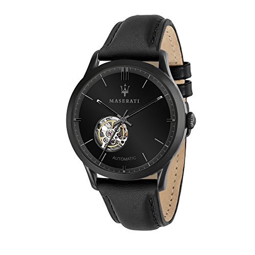 Maserati Ricordo 42mm ブラウン 本革 自動巻き機械式スケルトン メンズ 腕時計 R8821133001