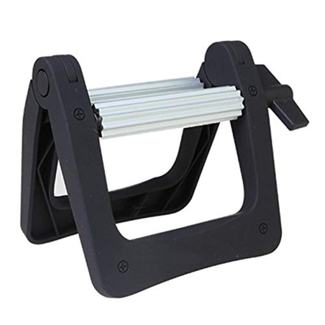 脊椎笑変換Saikogoods 歯磨き粉ローラーディスペンサー スクイーザー バスルーム製品 ヘアカラー染料チューブ絞り機 メタルローリングチューブ ホワイト&シルバー