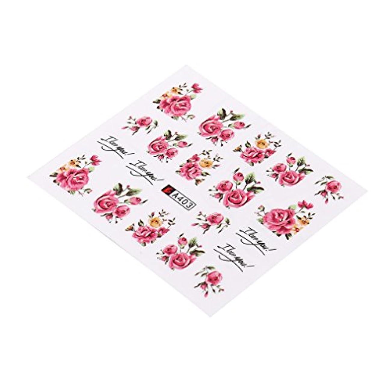 ぴかぴか首相些細YUEHAO ネイル用品 バラ 大きな赤い花 ボウタイ レースなど柄 子供用 環境にやさしいネイルアップリケジュエリー A403ローズフラワーレースレース柄