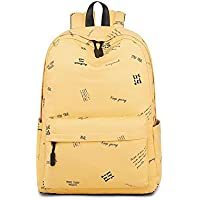 New Simple Large Capacity Schoolbag, Fresh Literature Art Comfortable Breathable Light Cotton Shool Bags, Teens Young Student Reduce Burden Backpack,Yellow