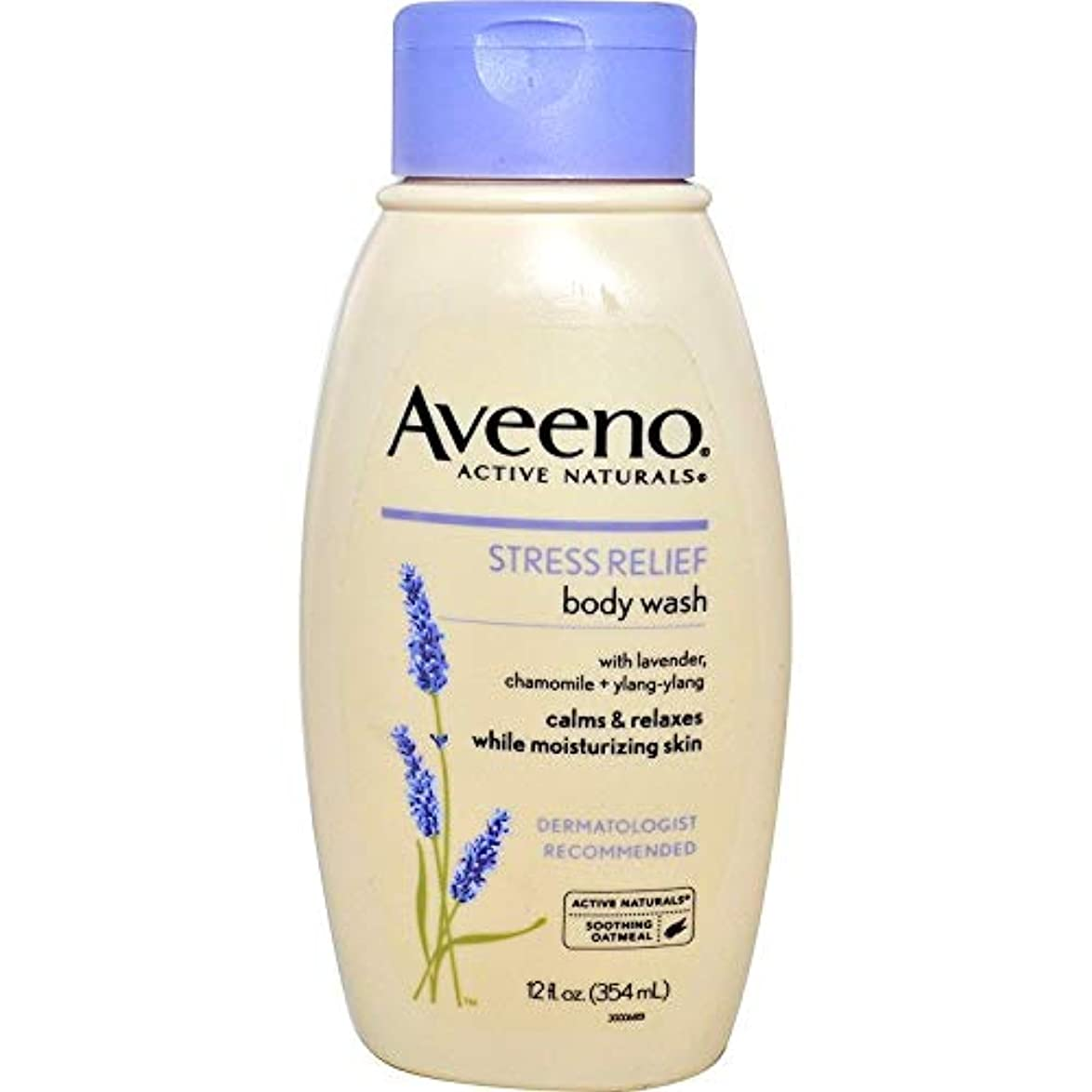ビルダー実質的おかしいAveeno Stress Relief Body Wash 12 fl oz by AveenoX 4 Pack [並行輸入品]