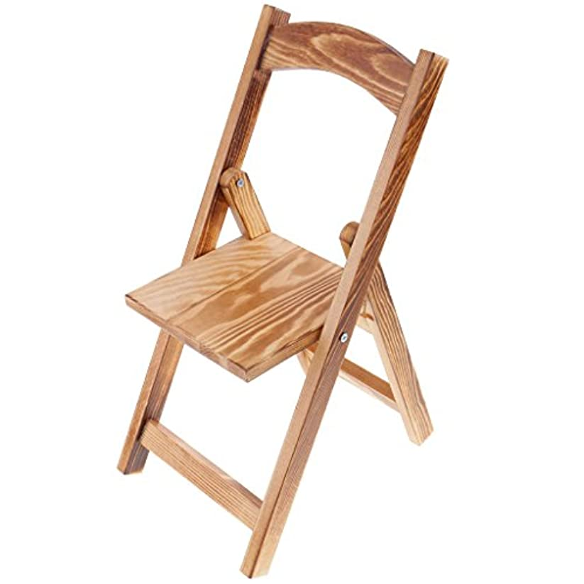 耐久ステープル却下するDovewill  1/3スケール BJDドール適用 人形 木製 折り畳み 椅子